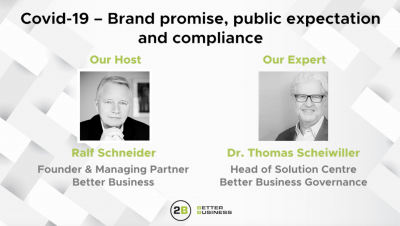 Brand promise, public expectation and compliance